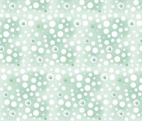 Pawprint Sage Mist fabric by kiniart on Spoonflower - custom fabric