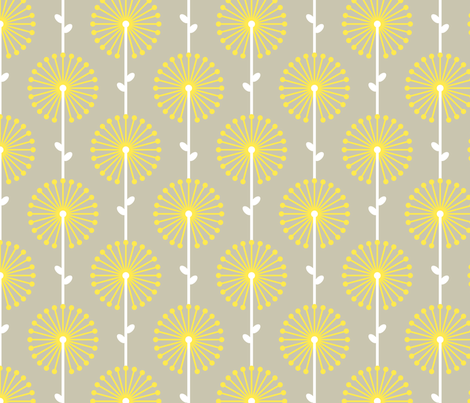 Yellow Lehua, Medium fabric by ravenous on Spoonflower - custom fabric