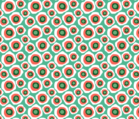 Fried Circles Minty Peach fabric by ravenous on Spoonflower - custom fabric
