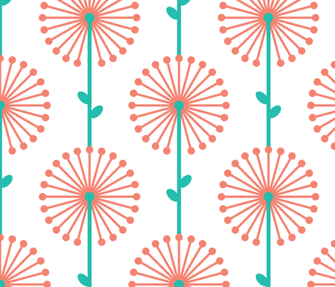 Pink Lehua, Big fabric by ravenous on Spoonflower - custom fabric