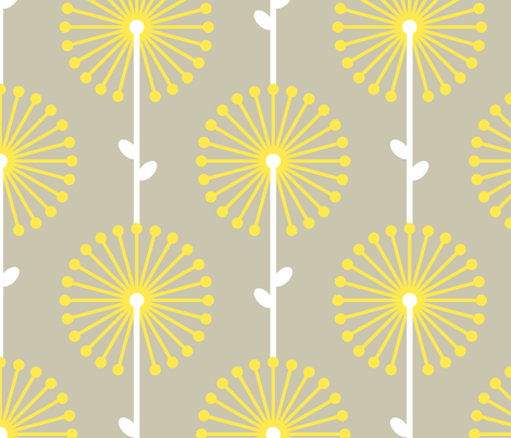 Yellow Lehua, Big fabric by ravenous on Spoonflower - custom fabric
