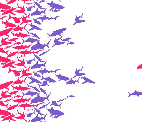 Sharks4Girls fabric by annadriel on Spoonflower - custom fabric