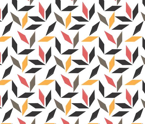 Parallelogram in raspberry fabric by me-udesign on Spoonflower - custom fabric