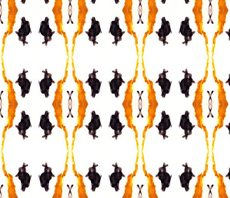 Black Bunny Meets Mr. Giraffe fabric by bluenini on Spoonflower - custom fabric
