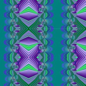 green and purple multi stripes