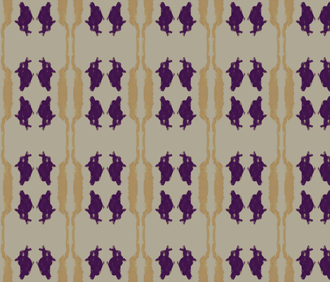 Purple Bunny Meets Mr. Giraffe fabric by bluenini on Spoonflower - custom fabric