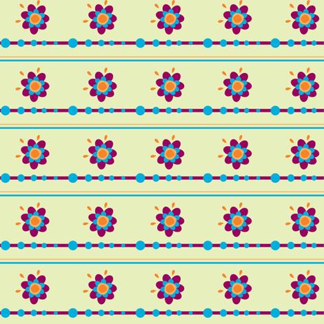 Floradot Stripes - Joyful Garden - © PinkSodaPop 4ComputerHeaven.com fabric by pinksodapop on Spoonflower - custom fabric