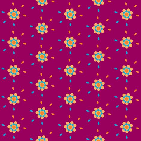 Floral Drops - Joyful Garden - © PinkSodaPop 4ComputerHeaven.com  fabric by pinksodapop on Spoonflower - custom fabric