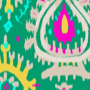 emerald ikat