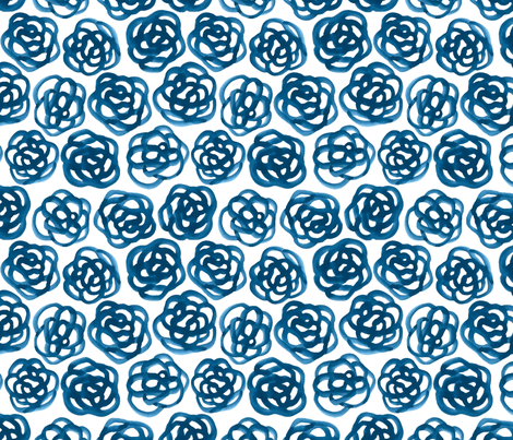 denim floral fabric by minimiel on Spoonflower - custom fabric