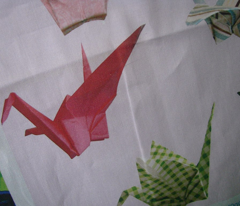 Pink Peace Cranes - Large Repeat Version