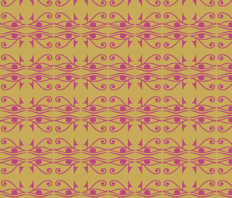 Horus Moroccan Pink fabric by colie*leigh*designs on Spoonflower - custom fabric