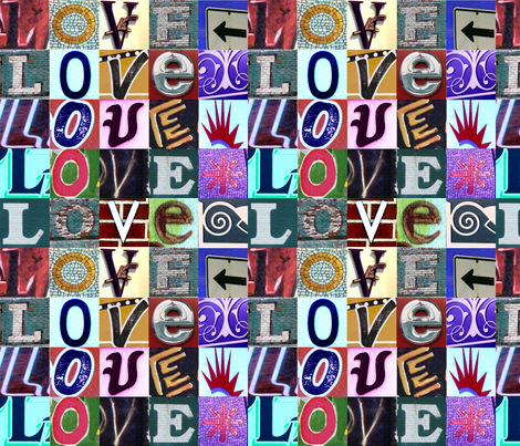 Signs of LOVE fabric by amy_lou_who on Spoonflower - custom fabric