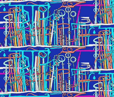 A Forest of Masts,Viewed Over the Hill fabric by boris_thumbkin on Spoonflower - custom fabric