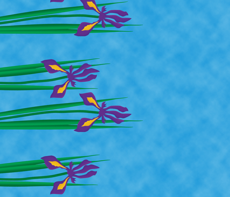 Iris Hanging fabric by laurijon on Spoonflower - custom fabric