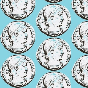 old coin turquoise