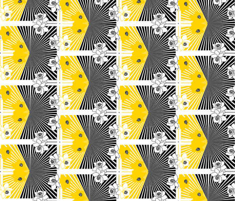 Flower Optical Illusion fabric by lusykoror on Spoonflower - custom fabric