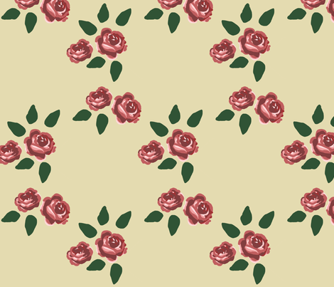 ROSE fabric by lusykoror on Spoonflower - custom fabric