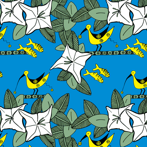 for my friends in The Republic of Palau fabric by lusykoror on Spoonflower - custom fabric