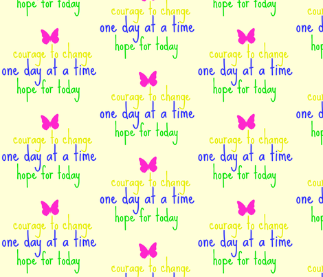 one day at a time fabric by dreamskyart on Spoonflower - custom fabric