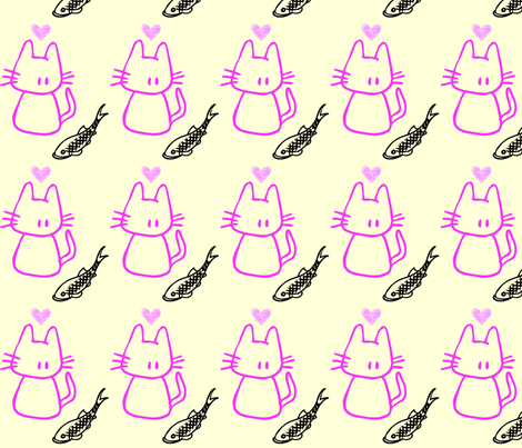 catfish love fabric by dreamskyart on Spoonflower - custom fabric
