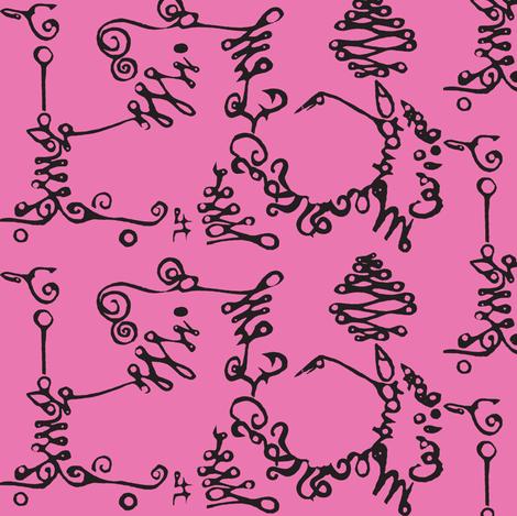Calligraphic Road Trip fabric by boris_thumbkin on Spoonflower - custom fabric