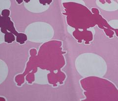 Pink Poodle Polka Dot