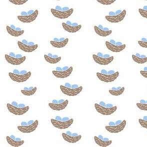 Tiny Nests White background
