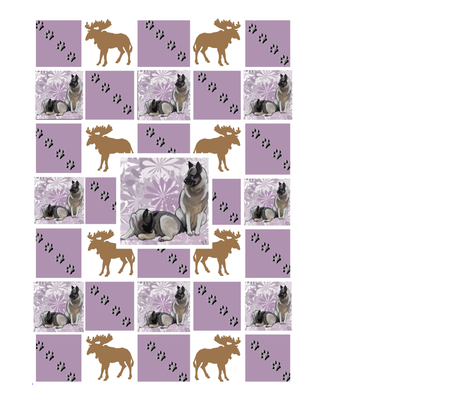 Moose Dog Cheater Quilt fabric by dogdaze_ on Spoonflower - custom fabric
