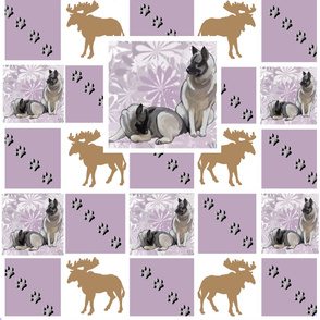 Moose Dog Cheater Quilt