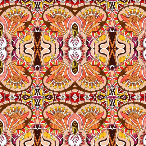 Sunflower Close Up fabric by edsel2084 on Spoonflower - custom fabric