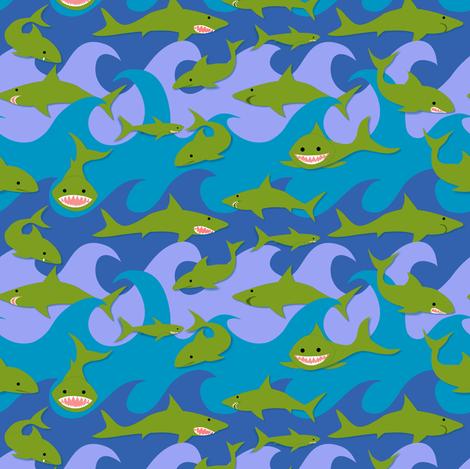 Toothsome!  fabric by vo_aka_virginiao on Spoonflower - custom fabric