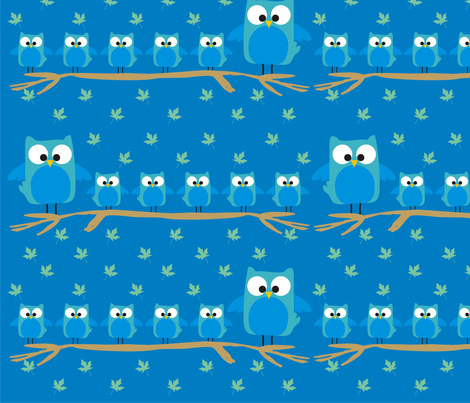 Owls fabric by cynwilkinson on Spoonflower - custom fabric