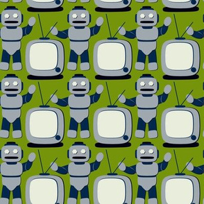 TV Cartoon Robot Retro Avocado