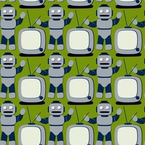 TV Cartoon Robot Retro Avocado