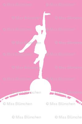Circus dancer pink-white-ch