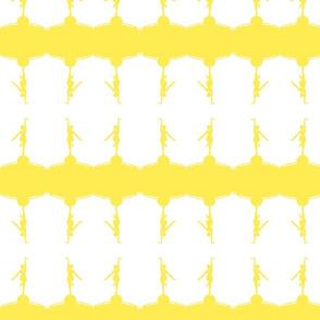 Circus dancer white yellow