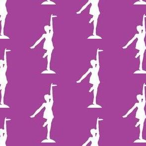 Circus dancer lilac-white allover