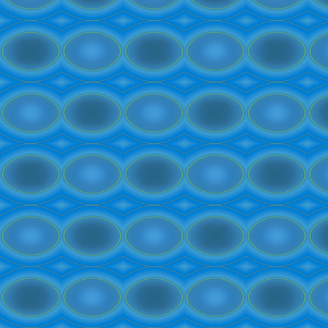 Blue Green Ovals © Gingezel™ 2011 fabric by gingezel on Spoonflower - custom fabric