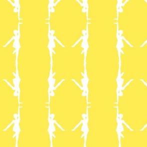 Circus dancer yellow-white small stripes