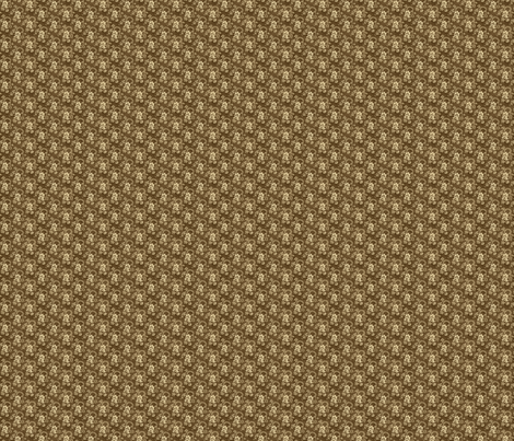 Doll scale antique brown calico fabric by the_cornish_crone on Spoonflower - custom fabric