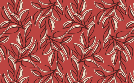 leaves 3 fabric by monmeehan on Spoonflower - custom fabric