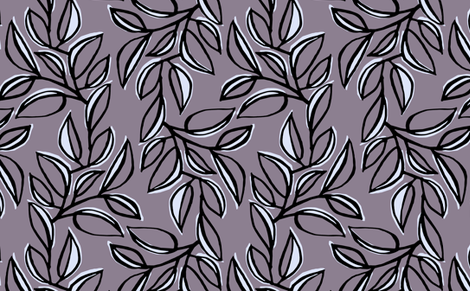 leaves 5 fabric by monmeehan on Spoonflower - custom fabric