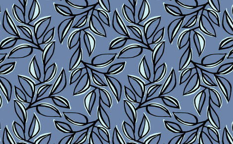leaves 6 fabric by monmeehan on Spoonflower - custom fabric