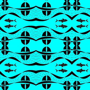 layer of shark fins