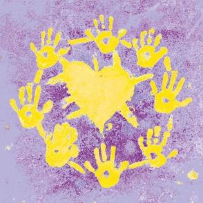 heartshine lavender/yellow