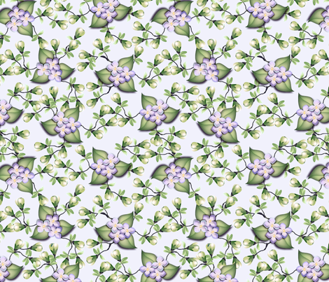 ©2011 floralsky - large, in purples fabric by glimmericks on Spoonflower - custom fabric