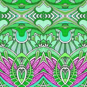 Doin' Deco (green/magenta) big