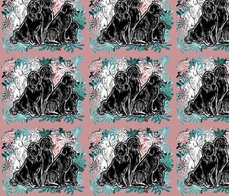 Newfs and Garden fabric fabric by dogdaze_ on Spoonflower - custom fabric