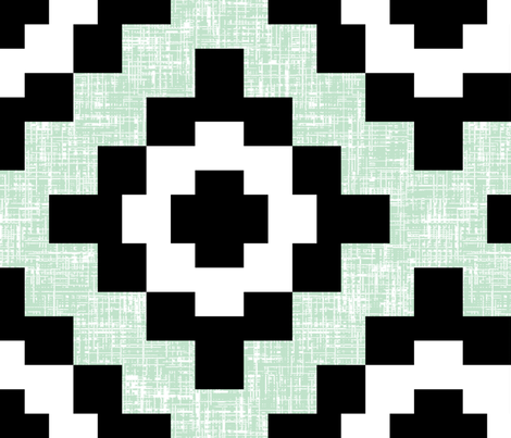 (200% BIGGER) Pale green mint weave West by Southwest by Su_G fabric by su_g on Spoonflower - custom fabric